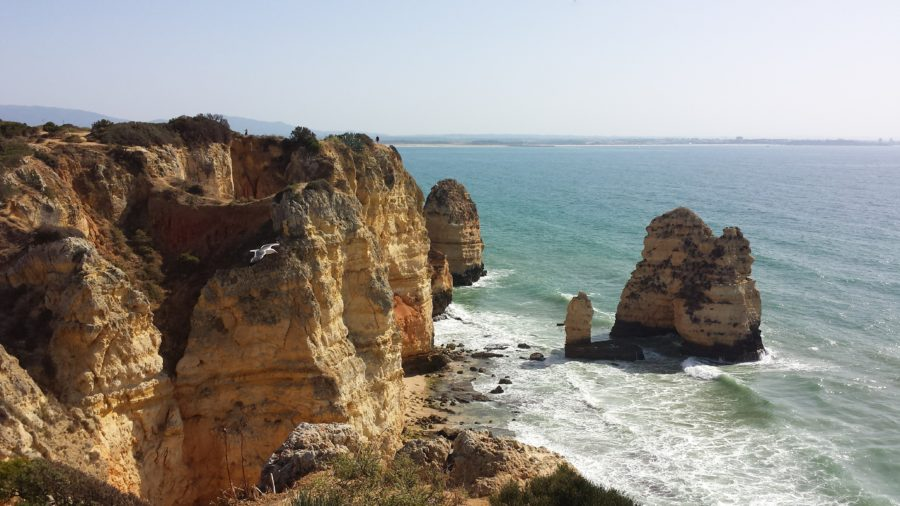 View of the ocean in Lagos, Portugal