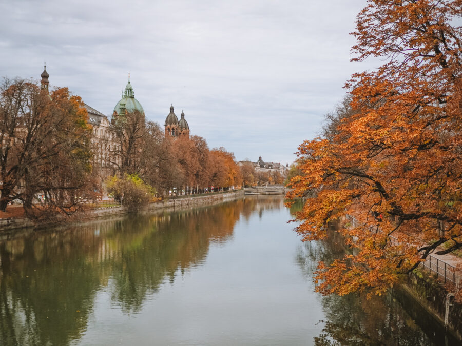 Canal in Europe in Autumn