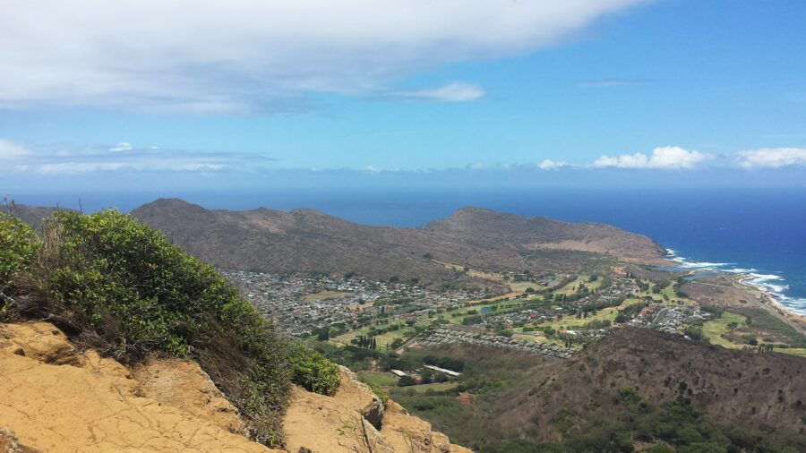 View of the ocean from the Koko head trail - One of the best hikes in Oahu