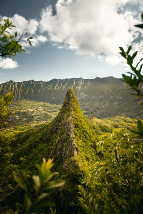 View of peak and dense jungles on the Stairway to Heaven Hike