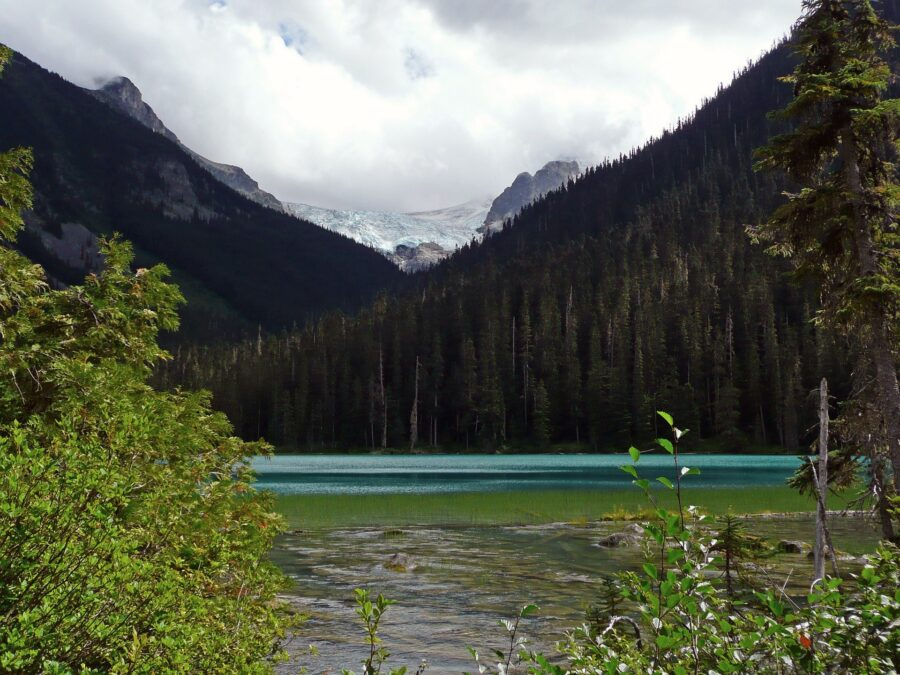 A view of the beautiful Lower Joffre Lake