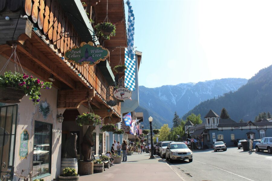 The German buildings of Leavenworth - One of the best day trips from Seattle