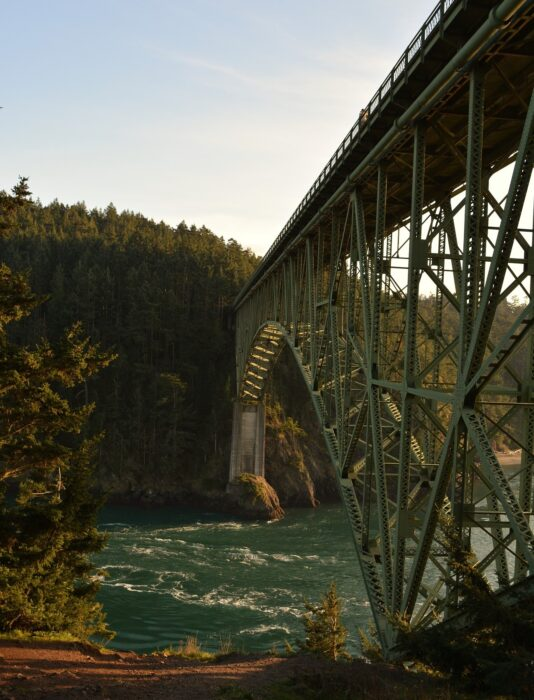 The Deception Pass going to Whidbey Island - One of the most common day trips from Seattle, Washington