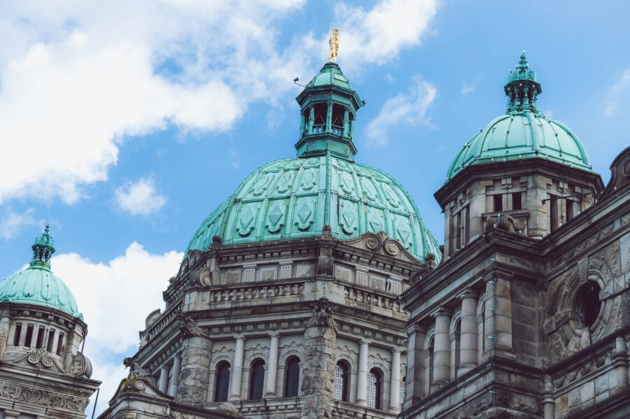The parliament buildings of Victoria, BC, Canada - A simple ferry trip from Seattle