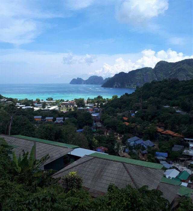 View of Koh Phi Phi and the Ocean from the Koh Phi Phi Viewpoint, a Day Trip from Phuket, Thailand