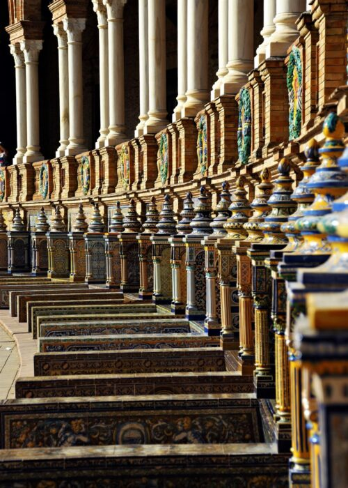 The Colorful Tiled Architecture of the Plaza de Espana in Seville