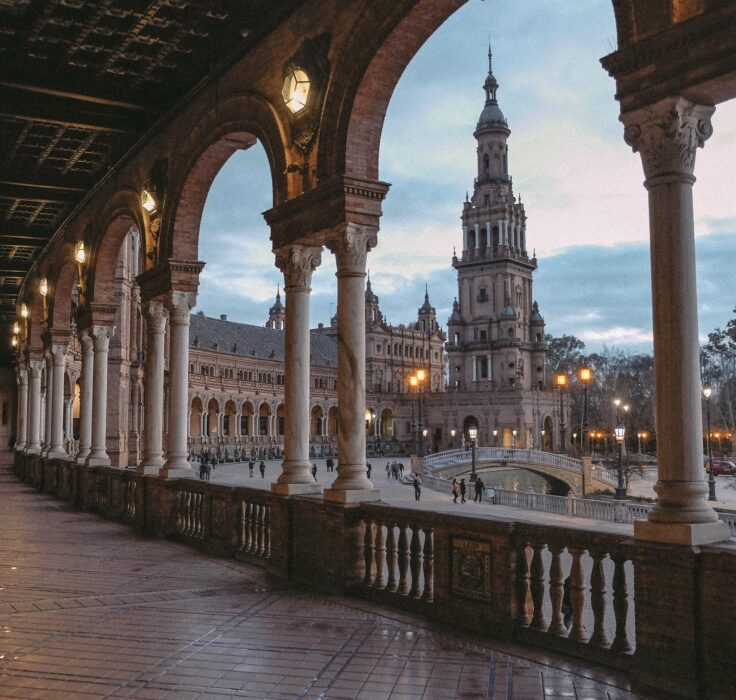 The Views from the Plaza de Espana in Seville
