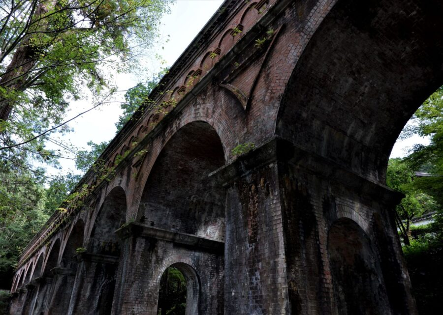 The Roman-inspired aqueduct at Nanzen-Ji temple, a perfect stop on your 2 Day Kyoto Itinerary
