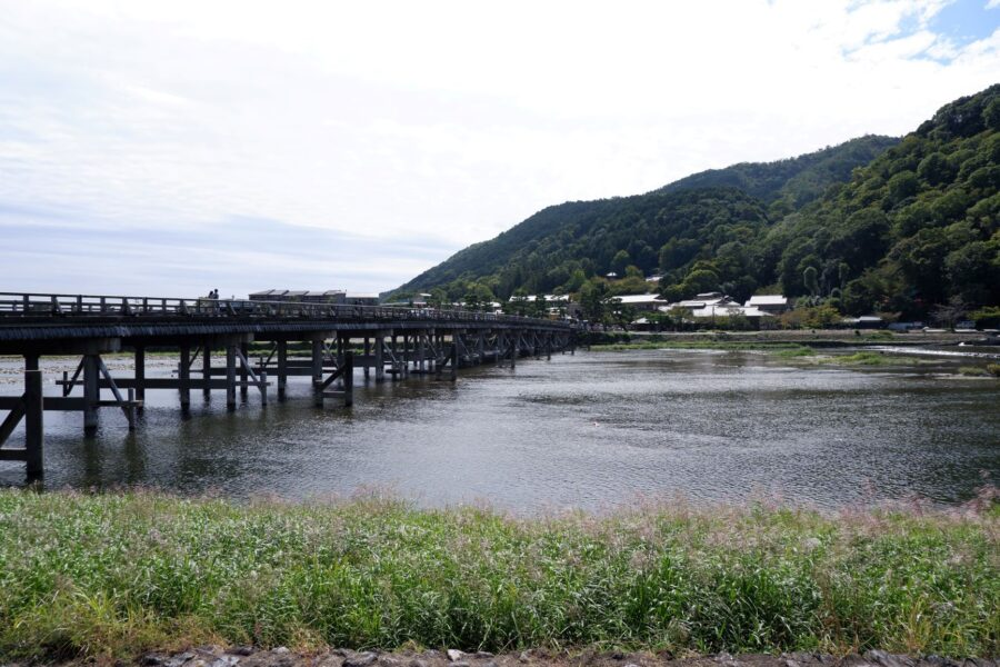 The togetsukyo bridge in Kyoto near Arashiyama, a perfect stop on your 2 day Kyoto itinerary